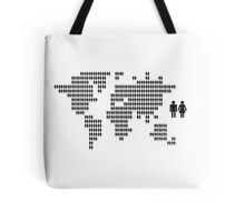 World map made from people icons Tote Bag