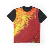 Volga River Delta Russia False Color Satellite Image Graphic T-Shirt