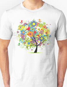 Floral tree summer Unisex T-Shirt