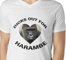 DICKS OUT FOR HARAMBE Mens V-Neck T-Shirt