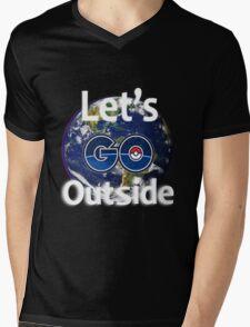 Let's Go Outside Pokemon Go (Centered)  Mens V-Neck T-Shirt