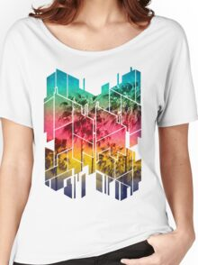 Colorful Geometric Sunset Women's Relaxed Fit T-Shirt