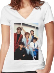Vintage Duran Duran V Women's Fitted V-Neck T-Shirt