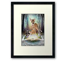 Believe In Magic • (Forest Friends: Bambi / Thumper / Flower) Framed Print