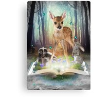 Believe In Magic • (Forest Friends: Bambi / Thumper / Flower) Canvas Print