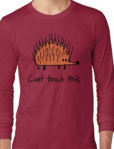 Funny orange hedgehog Long Sleeve T-Shirt