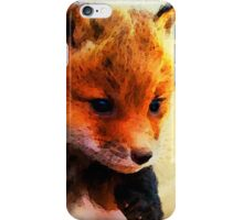 Fabulous Foxes:  When I Grow Up, I'll Be A Great Hunter iPhone Case/Skin