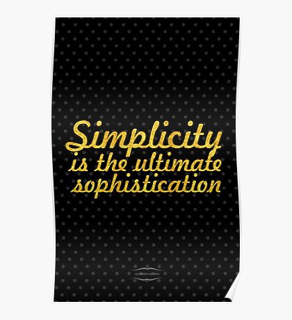 "Simlycity is the... ""Leonardo Da Vinchi"" Inspirational Quote Poster"