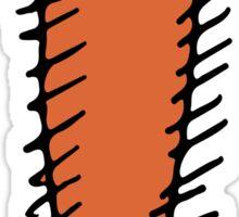 Funny orange hedgehog Sticker