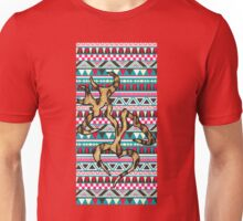 Deer Head Heart Aztec Unisex T-Shirt