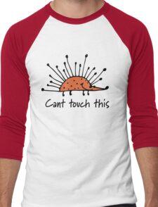 Funny orange hedgehog Men's Baseball ¾ T-Shirt