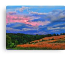 colorful countryside Canvas Print