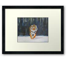 The Snow Tiger Framed Print
