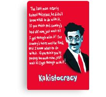 Kakistocracy - Groucho Marx Canvas Print