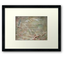 cultivate seed-inspirational Framed Print