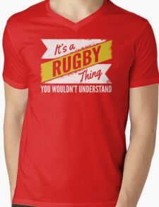 Rugby Mens V-Neck T-Shirt