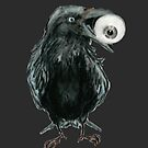 Raven with Eyeball by Jellyscuds