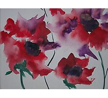 bright abstract flowers Photographic Print