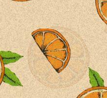 Orange Pattern Sticker