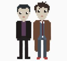 The 9th and 10th doctor by bluewardrobe