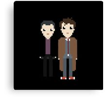 The 9th and 10th doctor Canvas Print