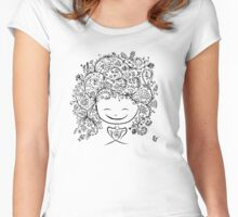 girl smiling Women's Fitted Scoop T-Shirt