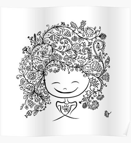 girl smiling Poster