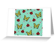 Swallowtails and Ladybugs Greeting Card