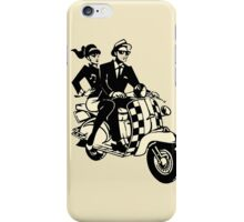 rude boy and girl on scooter iPhone Case/Skin