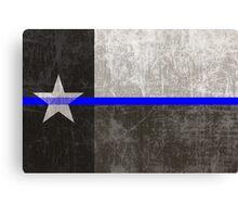 Texas Thin Blue Line Canvas Print