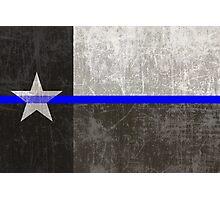 Texas Thin Blue Line Photographic Print