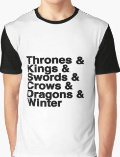 A Song of Ice and Fire Graphic T-Shirt