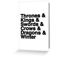 A Song of Ice and Fire Greeting Card