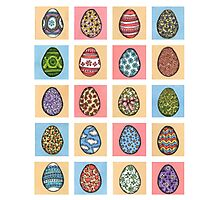 Easter Egg Collection Photographic Print