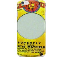 SUPERFLY, Funk Soul 45 label iPhone Case/Skin