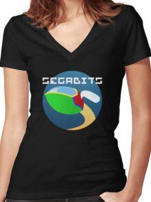 Opa Opa - SEGAbits Logo Shirt Women's Fitted V-Neck T-Shirt