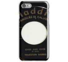 Over And Over, Doo Wop R & B 45 label on Aladdin iPhone Case/Skin