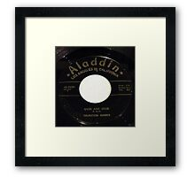 Over And Over, Doo Wop R & B 45 label on Aladdin Framed Print