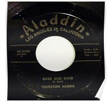 Over And Over, Doo Wop R & B 45 label on Aladdin Poster