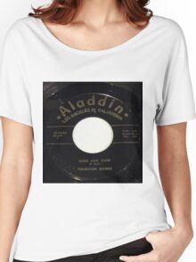 Over And Over, Doo Wop R & B 45 label on Aladdin Women's Relaxed Fit T-Shirt