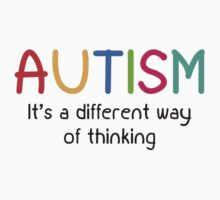 Autism It's A Different Way Of Thinking Kids Tee