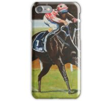 Black Caviar wins the Lightning Stakes iPhone Case/Skin