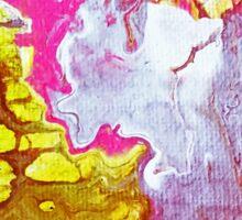 Pink Marble Round 1 Sticker
