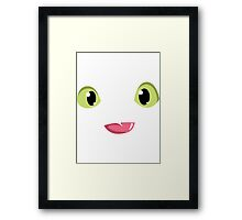 Toothless smile Framed Print