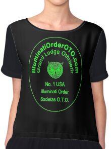 Illuminati Owl of Minerva Chiffon Top