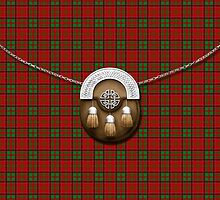 Clan MacDonald Of Glencoe Tartan And Sporran by thecelticflame