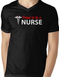 PROUD TO BE A NURSE Mens V-Neck T-Shirt