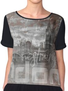 Urban-Art LONDON Houses of Parliament & Red Buses IV Chiffon Top