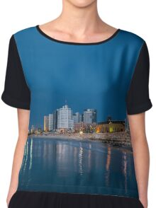 Tel Aviv the blue hour Chiffon Top