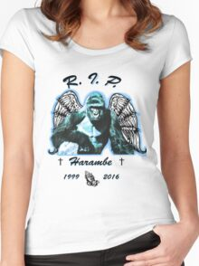 RIP Haramabe Women's Fitted Scoop T-Shirt